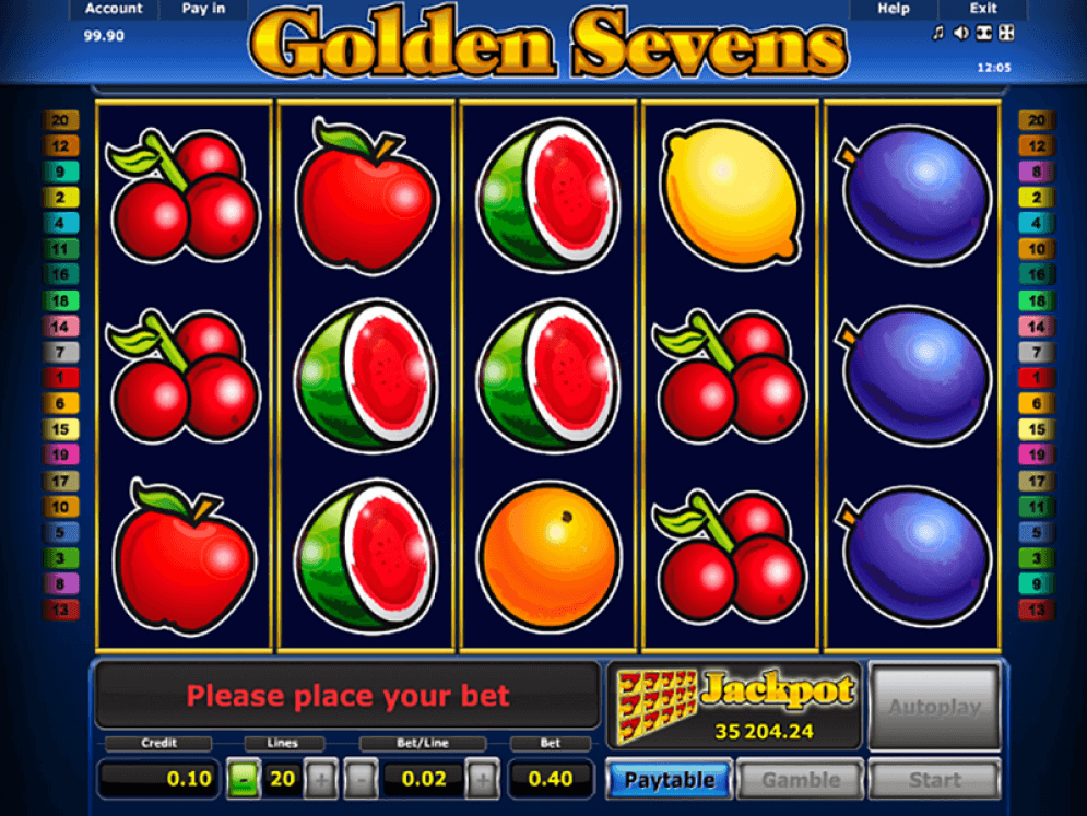 Golden Sevens Novomatic Video Slot  Game Review